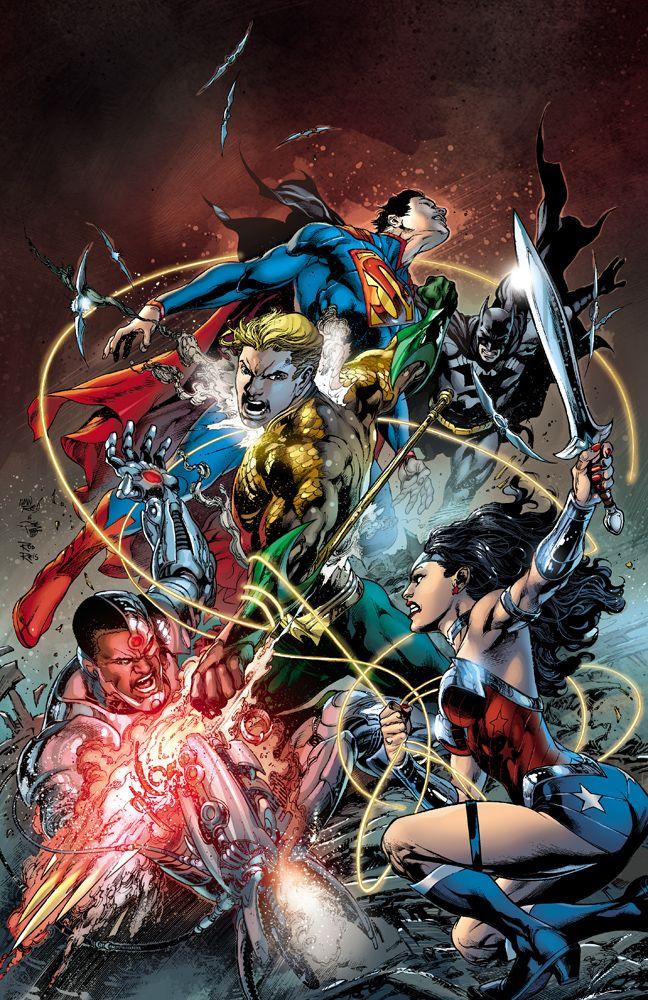 Aquaman dando trabalho para a Liga da Justiça. Ainda bem que ele é ''inútil'', caso contrário...OH, WAIT!!!