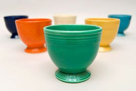 Green Vintage Fiesta Egg Cup Fiestaware Pottery For Sale