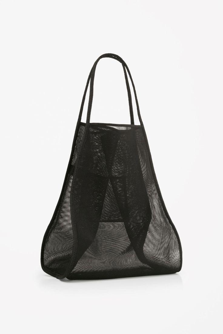 COS image 2 of Mesh tote bag in Black