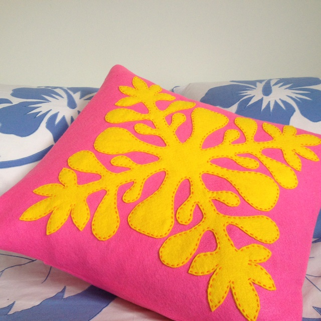 Tivaevae pillows made of felt