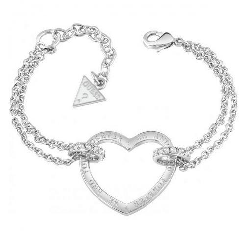 Bracelet guess coeur noir et blanc