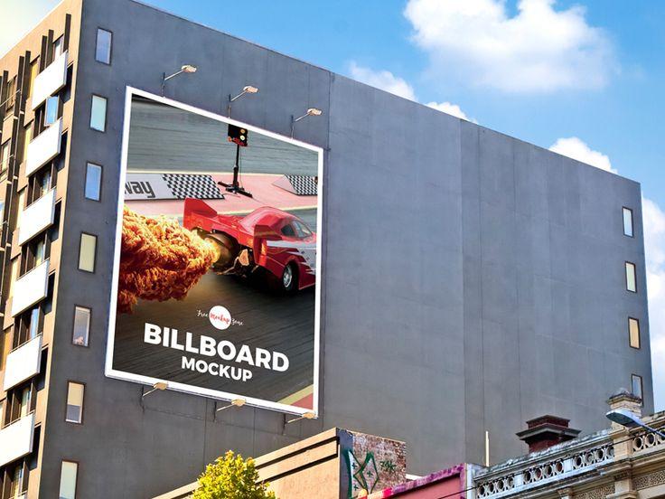 Free Outdoor Building Wall Advertisement Billboard Mockup Psd Billboard Mockup Outdoor Advertising Mockup Billboard