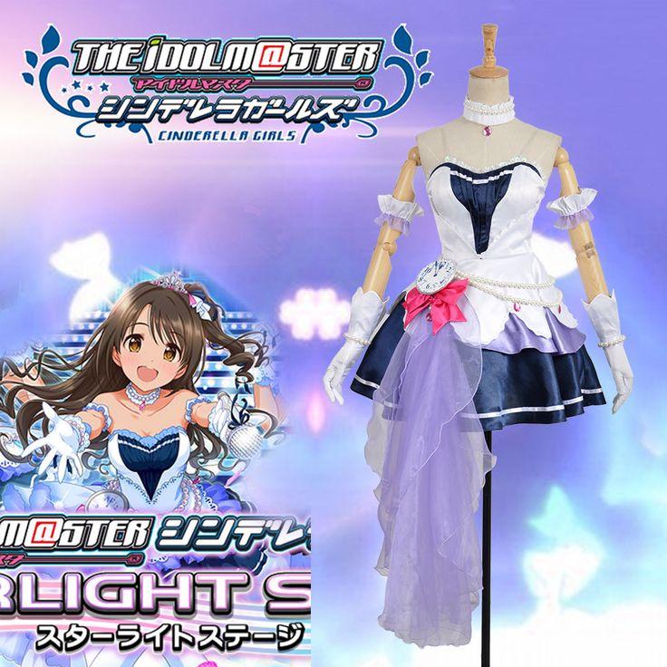 The Idolmaster 2 Cinderella Girls Shimamura Uzuki Cosplay Costume Custom Made  #Handmade #satin