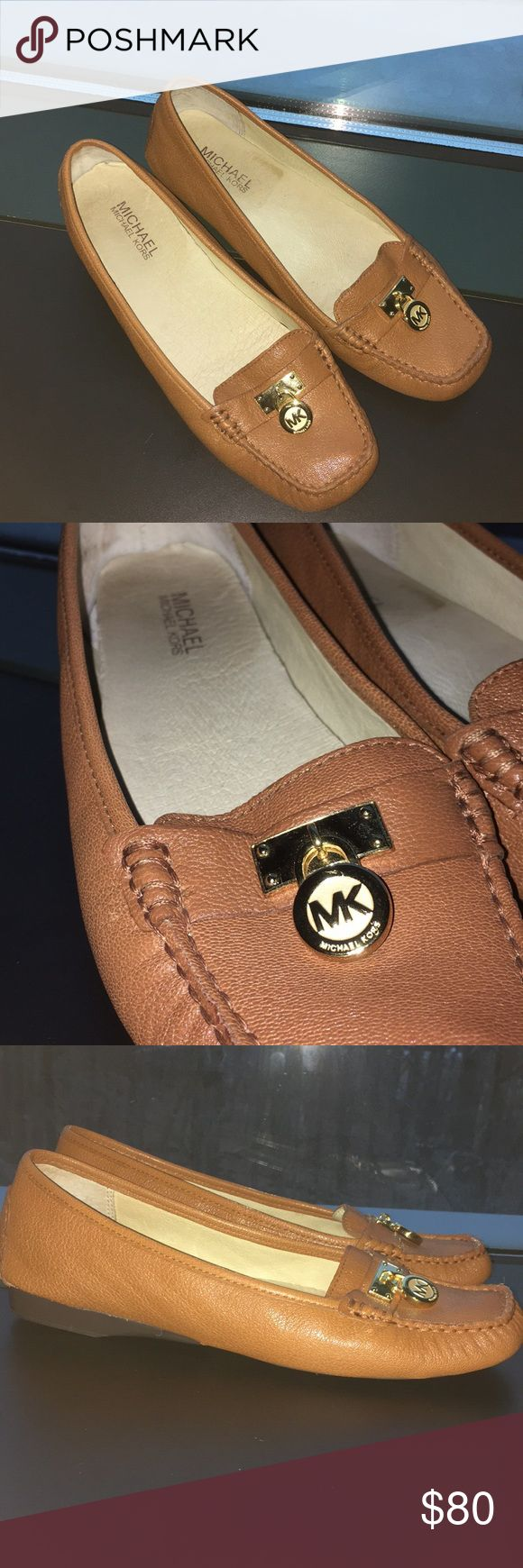 Michael Kors tan loafers These tan loafers are in impecable condition! No scratches or visible damage to the outside material, and the bottoms look like they were never worn. Extremely comfy padding on the inside and the threading is as good as new! MICHAEL Michael Kors Shoes Flats & Loafers