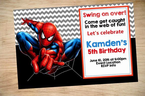 free spiderman invitation template