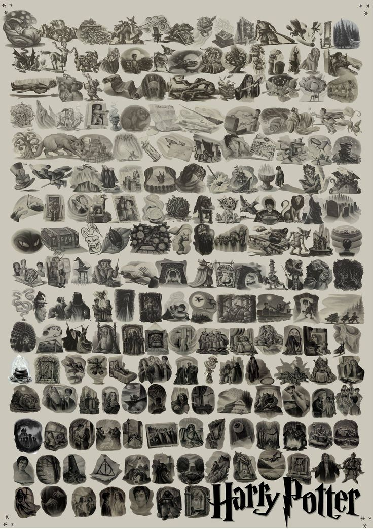 Every chapter illustration from every Harry Potter book. Makes me so, so sad. from ajcfood on reddit.