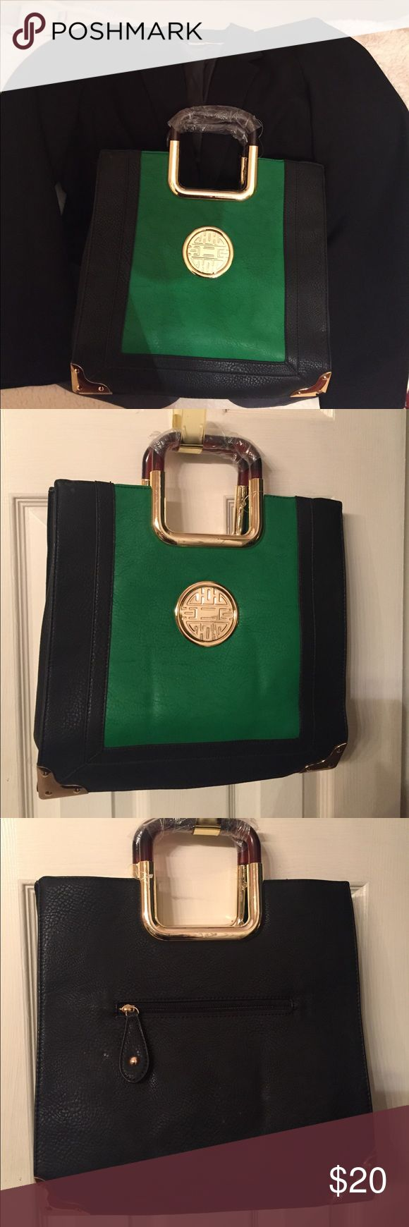 Elegant Bag This bag will look good with any dress up or down outfit. Never used this and very spacious. A lot of compartments to hold everything in place. 13 inches wide and 13 length. The bottom extends 5 inches. no brand Bags Satchels