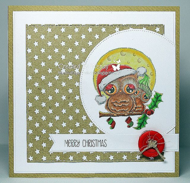 Crazy4flowers cards: Di's Digi Stamps ~ Have a Hoot of a Christmas...