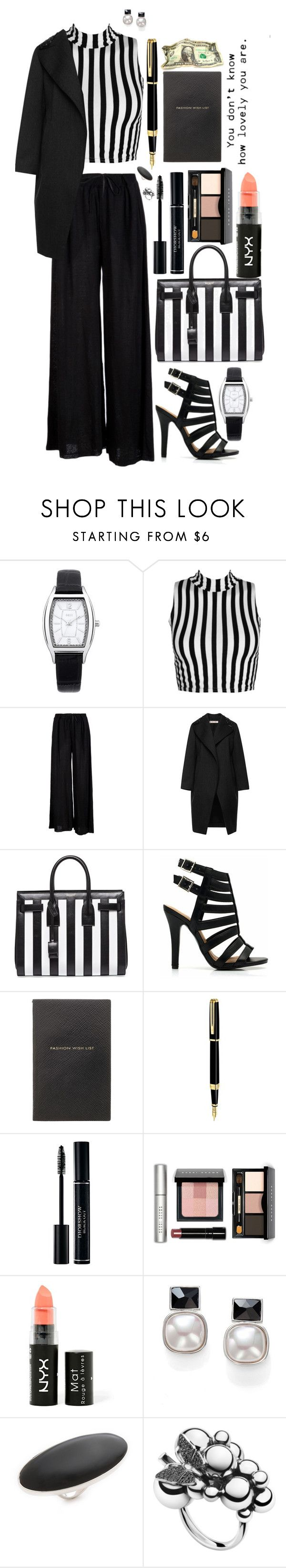 """""""Cage Heels"""" by missvip92 ❤ liked on Polyvore featuring Oasis, B*+S, Marni, Yves Saint Laurent, Smythson, Waterman, Bobbi Brown Cosmetics, NYX, Majorica and Maison Margiela"""