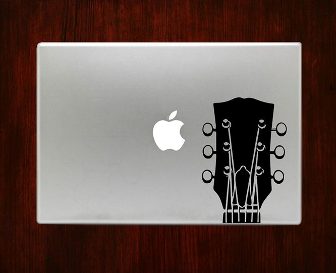 Headstock guitar music musical instruments decal sticker vinyl for macbook pro air 13 inch 15