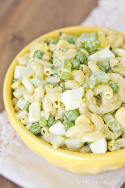 Classic Macaroni Salad | Yellow Bliss Road