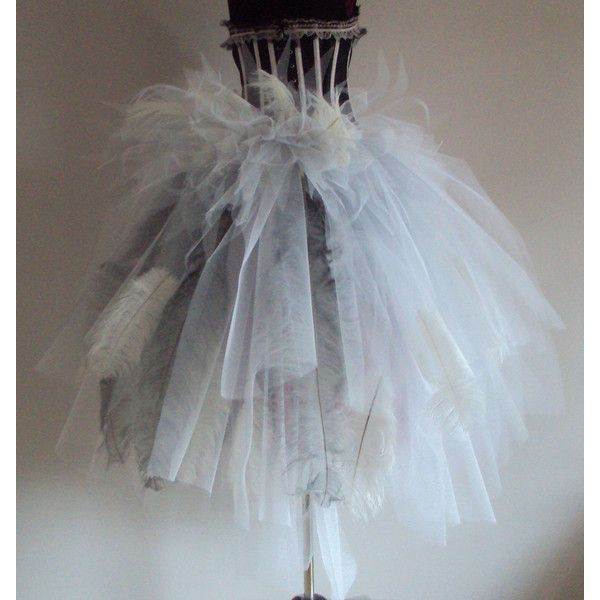 White Burlesque Ostrich Feather Inspired By Frozen Bustle Belt Us2 4