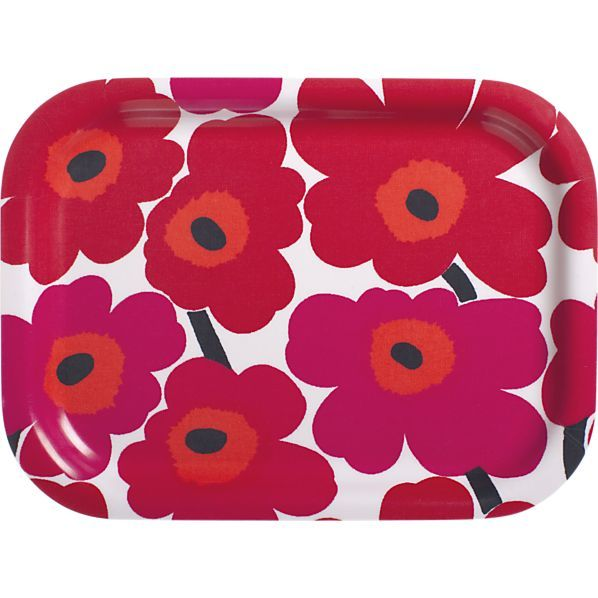 "Designed in 1964 by Maija Isola, the Unikko (""poppy"") design has been the most popular Marimekko print since its introduction. Challenging the common notion of decorative florals, Unikko broke from tradition with its creative pop art interpretation in bold, simplified pattern and bright color."