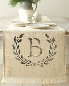 Personalized Table Runner - traditional - table linens - Garnet Hill