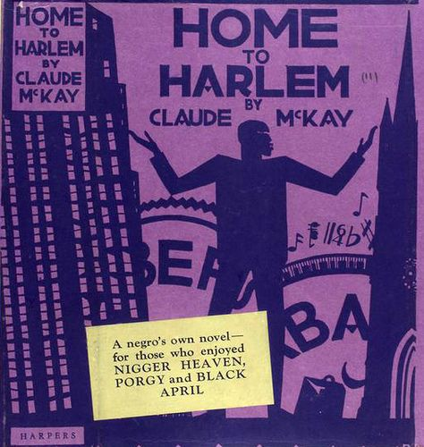 Home to Harlem, by Claude McKay (1928). Illustration and ...