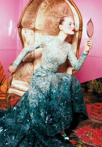 Guinevere van Seenus by David Lachapelle for Vogue Paris