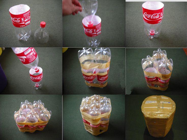 como fazer puff com garrafas pet - Pesquisa Google