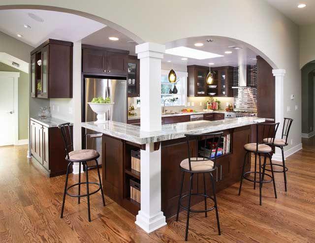 L Designs Kitchen With Islands | shaped Kitchen Islands Photo for Kitchen Island Designs Information ...