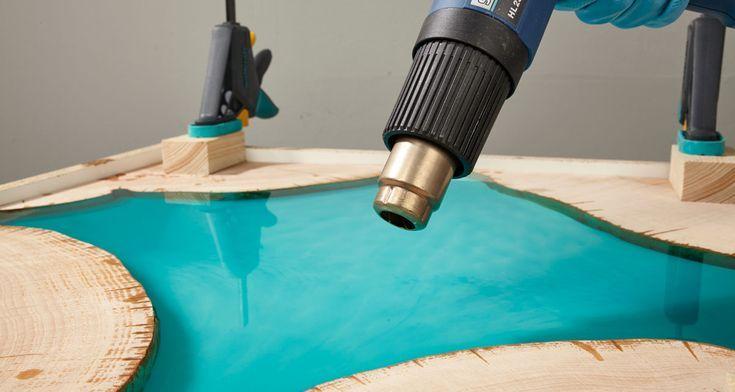 Selbst einen Epoxidharz-Tisch bauen: DIY-Anleitung…
