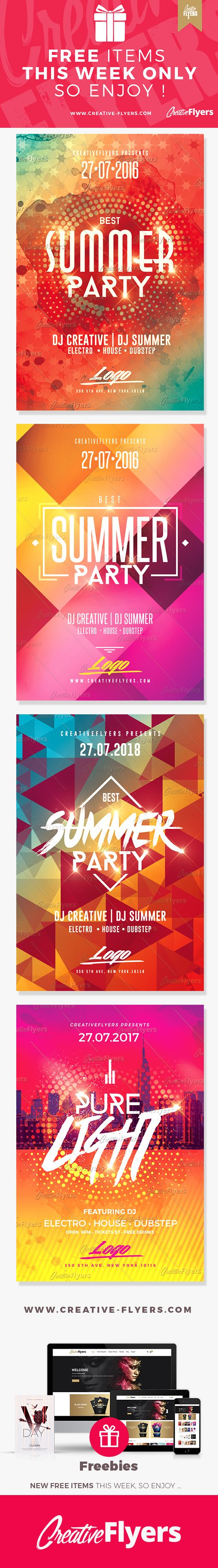 Free items this week only - Freebies Flyer Psd Templates ~ Creative Flyers #freebies #flyers #summer #templates #creativeflyers #free #freeflyers