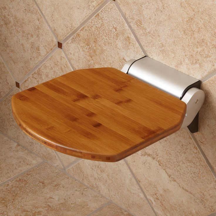 Solid Bamboo Folding Shower Seat Shower Seats Bathroom