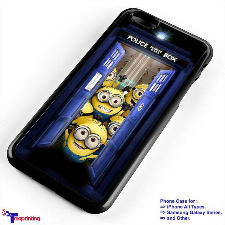 Tardis Inside Minion Doctor Who - Personalized iPhone 7 Case, iPhone 6/6S Plus, 5 5S SE, 7S Plus, Samsung Galaxy S5 S6 S7 S8 Case, and Other