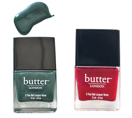 Butter London British Racing Green and Saucy Jack
