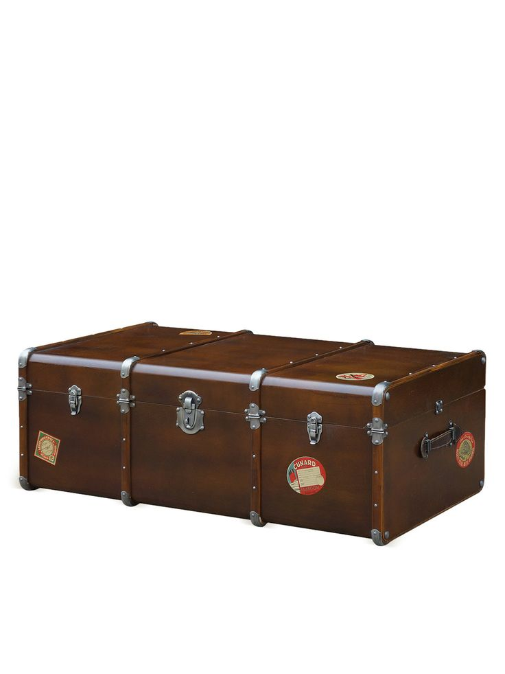 Hughes Collection Traveller Coffee Table Trunk By Four Hands At Gilt Furniture Pinterest
