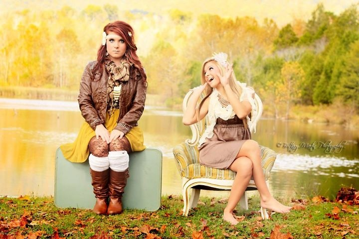 sister and i at our photoshoot.