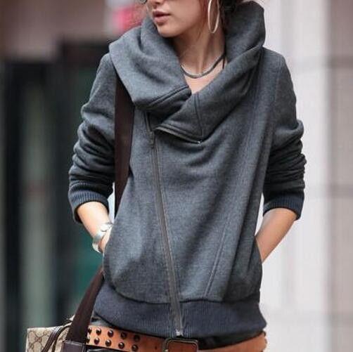 Fashion Long Sleeve Zipper Jacket