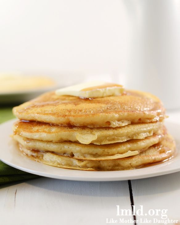 Perfect Pancakes. These seriously have the perfect flavor and the right amount of fluffiness - I need to try adding vanilla next time