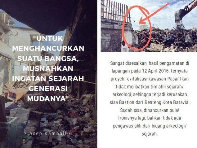 PENGGUSURAN PASAR IKAN AHOK AHISTORIS  Jakarta tidak membutuhkan calon pemimpin yang nggak paham dengan histori perjalanan Jakarta apalagi yang kerjanya hanya menggusur dan menindas rakyat seperti dilakukan Ahok yg menggusur kampung nelayan dengan dalih pembangunan atau revitalisasi kota tua Batavia. Menurut Sejarawan Jakarta Asep Kambali Kebijakan Ahok tak hanya warga yang kehilangan rumahnya yang sudah puluhan tahun mereka huni. Namun ternyata kita kehilangan situs sejarah yang paling…