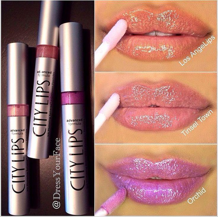 Makeup Tutorials Bun Hairstyles Makeup Tutorials: 3 Shades Of City Lips. #citycosmetics #citylips