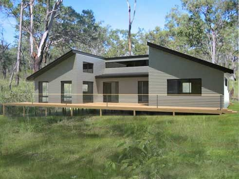 Prefab homes and modular homes in australia tasmanian kit for Beach house designs tasmania
