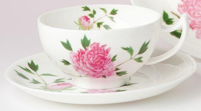 "Teetasse ""Peony"" TeaLogic 0,18l Fine Bone China Porzellan Teebecher Kaffeebecher"