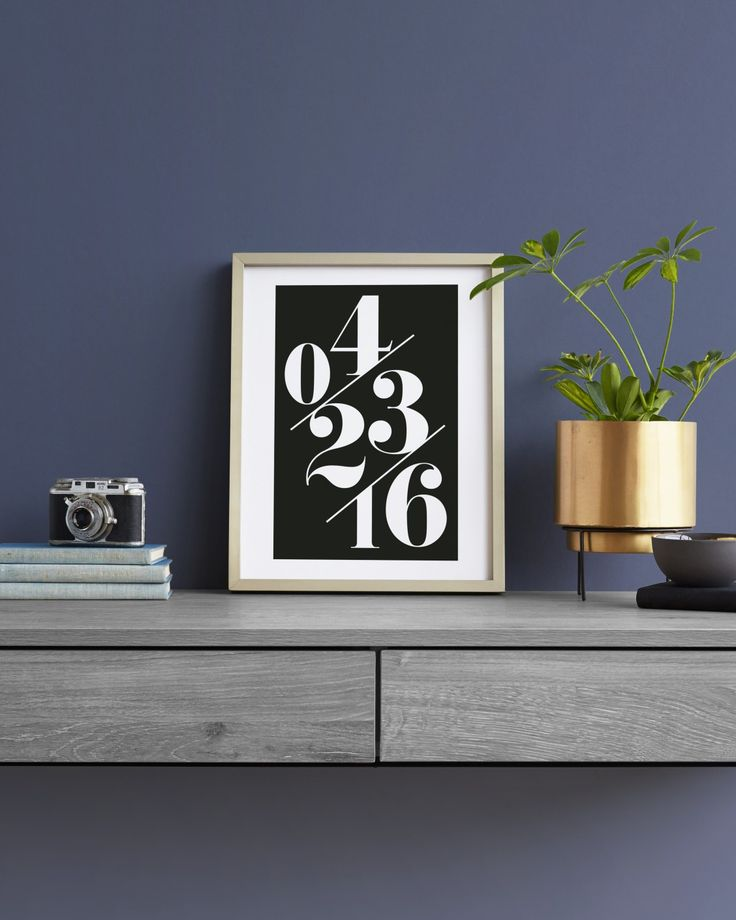 Celebrate a special day from your first date to your anniversary with this bold modern art print from minted