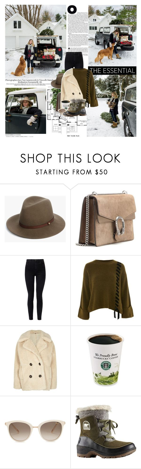 """""""Fill your life with good vibes and positivity, and the negative forces will not affect you. Have fun. Laugh often. Love deeply. Life truly is a gift."""" by mars ❤ liked on Polyvore featuring Eco Style, rag & bone, Gucci, J Brand, Topshop, Free People, Chopard, SOREL and Chanel"""
