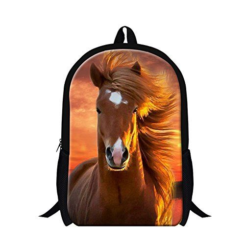 Amazing offer on GIVE ME BAG Generic Fashion Adult Horse Backpack College Students Bookbags online – Raven Ghostly