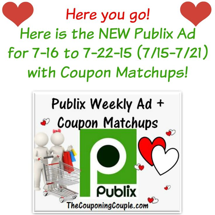 ***HERE YOU GO*** Here is the NEW Publix Ad for 7-16 to 7-22-15 (or 7/15-7/21 for those whose ad begins on Wednesdays) with Coupon Matchups! Click the link below to get the NEW Ad with Matchups ► http://www.thecouponingcouple.com/publix-ad-with-coupon-matchups-for-7-16-to-7-22-15/  In addition to getting the ad early you also get: 1. Final Pricing for True BOGO AND 1/2 Price BOGO! 2. Final Pricing for stores that DOUBLE Coupons AND Stores that DON'T DOUBLE Coupons!!