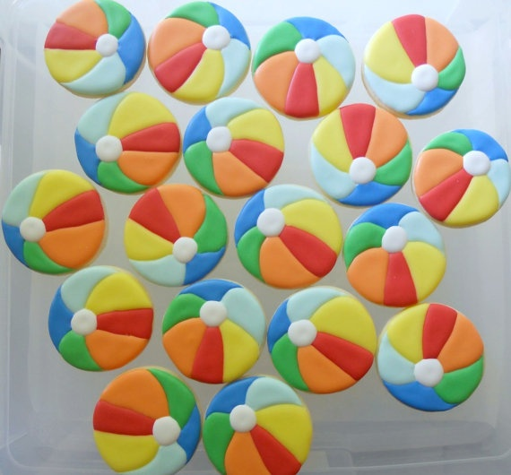 Decorating With Beach Balls 296 Best Lucky Cookie Images On Pinterest  Decorated Cookies
