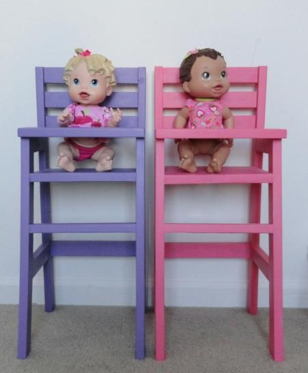 Doll High Chairs | Do It Yourself Home Projects from Ana White