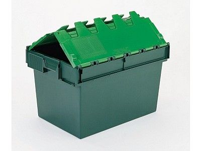 64 Litre Stack - Nest Attached Lid Container - Lidded Plastic Storage Box