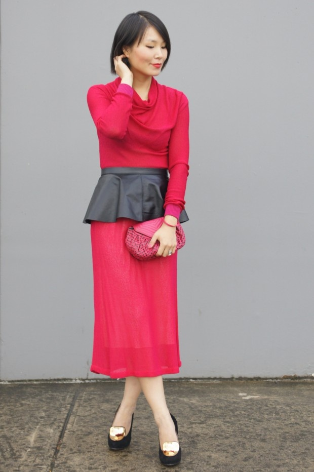 The always impeccable Cecylia.com looking fabulous in our Peplum Belt!
