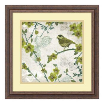 ''Birds and Butterflies II'' Framed Art Print by Tandi Venter