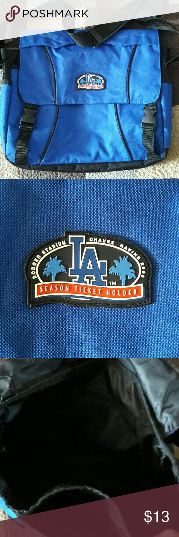 Los Angeles Dodgers messenger bag Los Angeles Dodgers messenger bag. Has zippered pocket inside. This rare bag was a season ticket holder gift. Bags