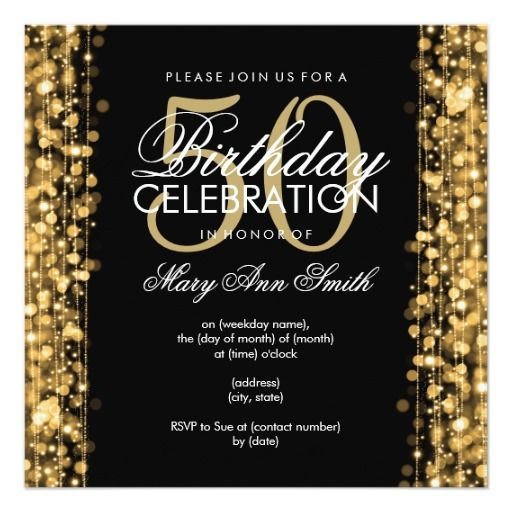 414 best Elegant Birthday Party Invitations images on Pinterest