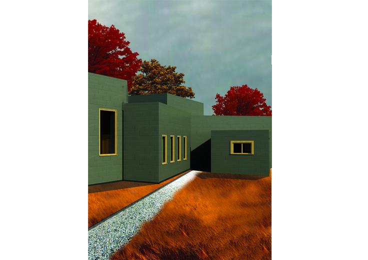 5x5 Box House- Revit/Photoshop