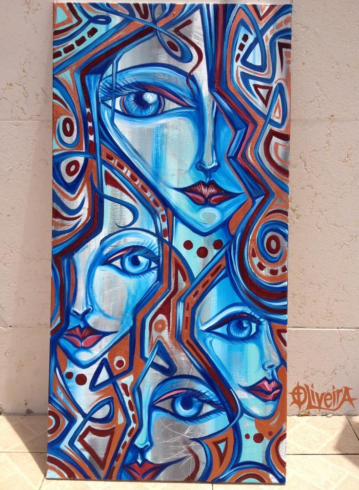 Joshua oliveira acrylic on canvas live art armory art show