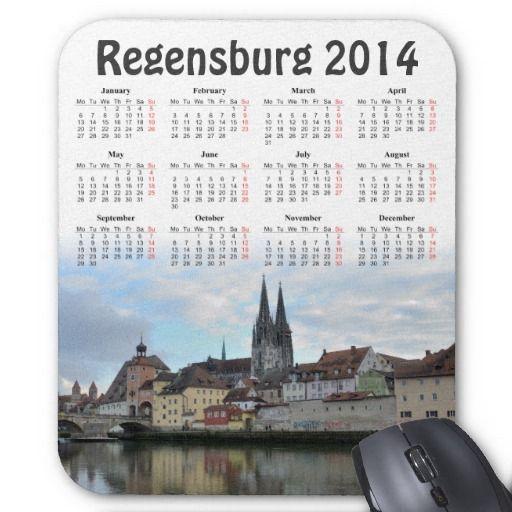 Regensburg, Germany 2014 calendar mousepad