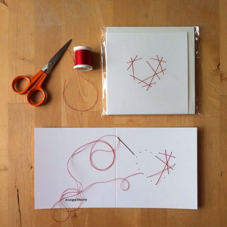 Making christmas cards...with love, a needle & a roll of thread